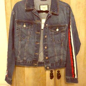 NWT Stripped Jean Jacket